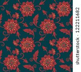 vector flower seamless pattern...   Shutterstock .eps vector #122211682
