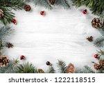 creative frame made of... | Shutterstock . vector #1222118515