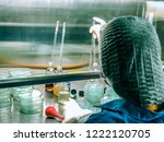 blurred of scientist doing the... | Shutterstock . vector #1222120705