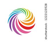 Abstract Swirl Color Logo...