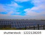 solar panels on the river | Shutterstock . vector #1222128205