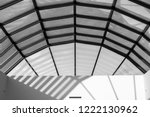 modern glass roof with steel... | Shutterstock . vector #1222130962