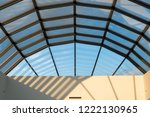 modern glass roof with steel... | Shutterstock . vector #1222130965
