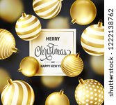 christmas background with tree... | Shutterstock .eps vector #1222138762