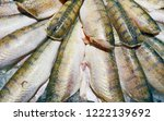 gutted chilled perch fish... | Shutterstock . vector #1222139692