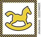 horse toy sign. vector. warm... | Shutterstock .eps vector #1222146025