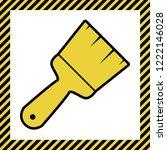 brush sign illustration. vector.... | Shutterstock .eps vector #1222146028