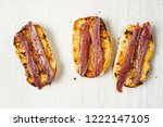 close up of anchovy toast | Shutterstock . vector #1222147105