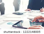 business team meeting working... | Shutterstock . vector #1222148005