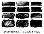 vector set of hand drawn brush... | Shutterstock .eps vector #1222157422