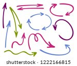 hand drawn diagram arrow icons... | Shutterstock .eps vector #1222166815
