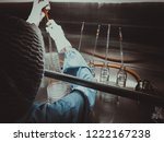 blurred of scientist doing the... | Shutterstock . vector #1222167238