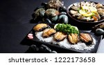 abalone dish on plate | Shutterstock . vector #1222173658