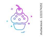 cup cake icon design vector | Shutterstock .eps vector #1222174252