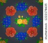 vector illustration. seamless... | Shutterstock .eps vector #1222178635