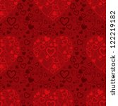 vector red valentine's day... | Shutterstock .eps vector #122219182