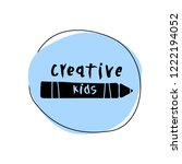 vector illustration of creative ... | Shutterstock .eps vector #1222194052