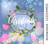 christmas banner sales  special ... | Shutterstock .eps vector #1222194922