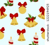 merry christmas winter holiday... | Shutterstock .eps vector #1222194925
