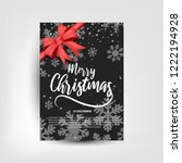 merry christmas party... | Shutterstock .eps vector #1222194928