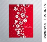 beautiful poster of snowflakes... | Shutterstock .eps vector #1222207672