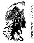 Black Death With Scythe For...