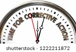 time for corrective action... | Shutterstock . vector #1222211872