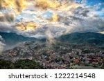 aerial view panorama sapa city  ... | Shutterstock . vector #1222214548