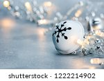 jingle bell and glowing... | Shutterstock . vector #1222214902