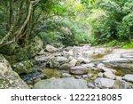 hiji large waterfall in...   Shutterstock . vector #1222218085