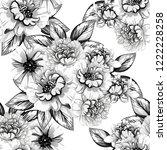 abstract elegance seamless... | Shutterstock . vector #1222228258
