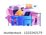 businessman working and... | Shutterstock .eps vector #1222242175