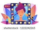 professional makeup artists...   Shutterstock .eps vector #1222242265