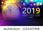 happy new year 2019 blurred... | Shutterstock .eps vector #1222247968