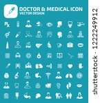 doctor and medical vector icon... | Shutterstock .eps vector #1222249912