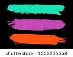 collection of hand drawn... | Shutterstock .eps vector #1222255558