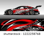 racing car decal graphic vector ... | Shutterstock .eps vector #1222258768