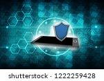 3d rendering transmitter mobile ... | Shutterstock . vector #1222259428