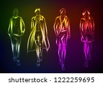 hand drawn fashion model from a ... | Shutterstock .eps vector #1222259695