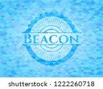 beacon light blue emblem with... | Shutterstock .eps vector #1222260718