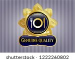 gold badge or emblem with... | Shutterstock .eps vector #1222260802