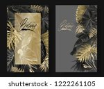 vector vertical banners with... | Shutterstock .eps vector #1222261105