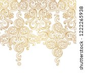 vector golden seamless border... | Shutterstock .eps vector #1222265938