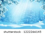 merry christmas and happy new... | Shutterstock . vector #1222266145
