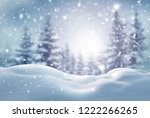 winter  background .merry... | Shutterstock . vector #1222266265