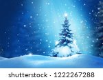 happy new year greeting card... | Shutterstock . vector #1222267288
