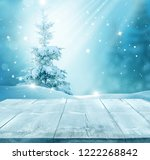 merry christmas and happy new...   Shutterstock . vector #1222268842