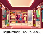 spacious walk in closet or... | Shutterstock .eps vector #1222272058