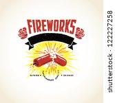 vector firecracker exploding... | Shutterstock .eps vector #122227258