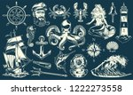 vintage maritime and nautical... | Shutterstock .eps vector #1222273558